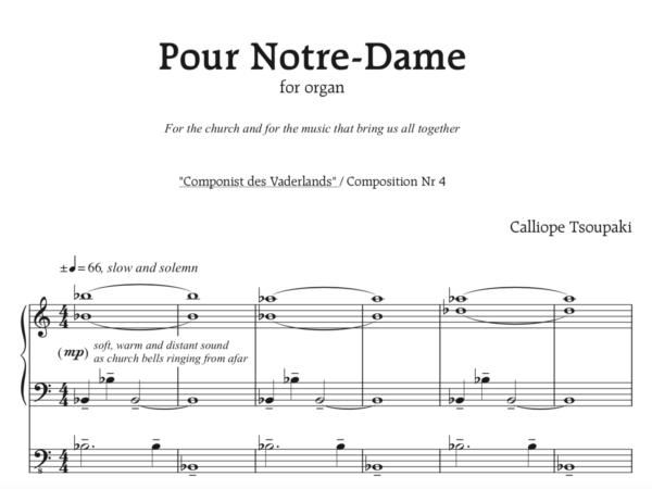 Calliope schrijft orgelstuk voor door brand getroffen Notre-Dame